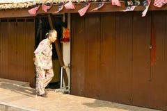 Asiatiskt gammalt gå för vagn Fotografering för Bildbyråer