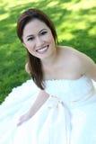 asiatiskt härligt brudbröllop Arkivbilder