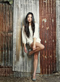 asiatiskt härligt kvinnabarn Arkivfoton