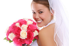 asiatiskt härligt brudbröllop Royaltyfria Bilder
