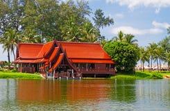 Asiatiskt hus Arkivbilder