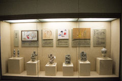 Asiatiskt kines-, Peking-, kvinna- och barns museum, inomhus mässhall Royaltyfri Foto