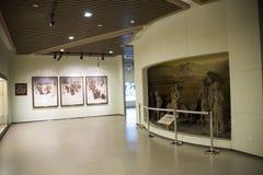 Asiatiskt kines-, Peking-, kvinna- och barns museum, inomhus mässhall Arkivbilder