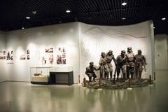 Asiatiskt kines-, Peking-, kvinna- och barns museum, inomhus mässhall Arkivfoto