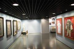Asiatiskt kines-, Peking-, kvinna- och barns museum, inomhus mässhall Royaltyfri Fotografi