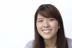asiatiskt kinesiskt le för lady arkivfoto