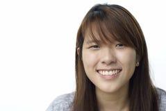 asiatiskt kinesiskt le för lady royaltyfri foto