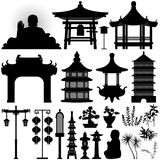 asiatiskt kinesiskt relikrelikskrintempel Arkivfoto