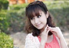 asiatiskt kvinnabarn Fotografering för Bildbyråer