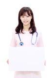 asiatiskt kvinnligsjuksköterskabarn Fotografering för Bildbyråer