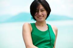 asiatiskt le för flicka Royaltyfri Foto