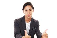 asiatiskt le för man royaltyfri fotografi