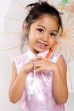 asiatiskt leende Arkivbild
