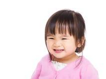 Asiatiskt liten flickaleende Fotografering för Bildbyråer