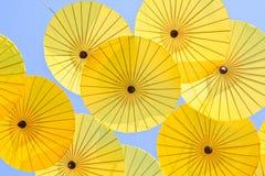 Asiatiskt paraply arkivbild