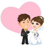 asiatiskt parbröllop Royaltyfri Fotografi