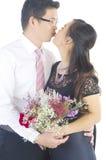 asiatiskt parbröllop royaltyfri bild