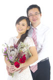 asiatiskt parbröllop arkivfoton