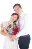 asiatiskt parbröllop royaltyfria bilder