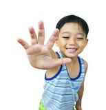 asiatiskt pojkebarn Arkivbilder
