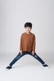 Asiatiskt pojkestudioskott Royaltyfria Foton