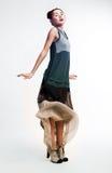 asiatiskt posera för modekvinnlig som är nätt Royaltyfri Foto