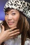 asiatiskt posera för modemodell Arkivbild