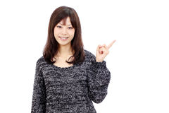asiatiskt ståendekvinnabarn Royaltyfri Foto