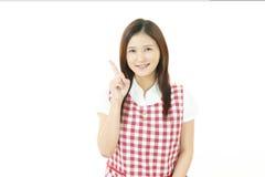 asiatiskt ståendekvinnabarn arkivfoton