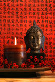 asiatiskt stearinljus Arkivfoton