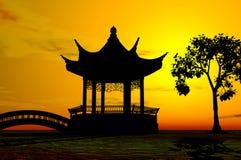 asiatiskt tempel Royaltyfri Bild