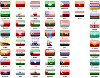 Asiatmarkierungsfahnen der Länder Stockfoto