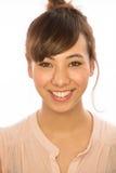 Asiats-Latina-Mädchenfrauenlächeln-Gesichtsporträt Lizenzfreie Stockfotos