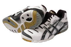 Asics sport shoes Stock Photos