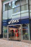 Asics sports shop Royalty Free Stock Images