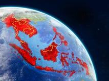 Asie du Sud-Est de l'espace illustration libre de droits