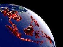 Asie du Sud-Est de l'espace illustration stock