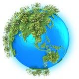 Asie du Sud-Est et Australie sur terre de planète Image stock