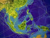 Asie du Sud-Est sur terre illustration stock