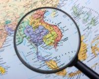 Asie du Sud-Est Une partie de la denrée d'agriculture de cette zone est expédiée dans le monde entier Photo stock