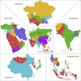 Asien översikt vektor illustrationer