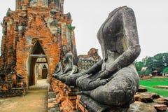 Asien Ayuthaya landskap, byggd struktur, berömt ställe, monument Fotografering för Bildbyråer