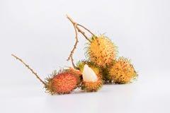 Asien bär frukt rambutanen Arkivfoto