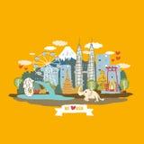 Asien begreppsaffisch Royaltyfri Bild