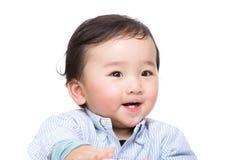 Asien behandla som ett barn pojken arkivbild