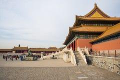 Asien China, Peking, der Kaiserpalast, die Geschichte des Gebäudes, Pavillons, Terrassen und offene Hallen Lizenzfreie Stockfotos