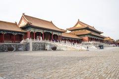 Asien China, Peking, der Kaiserpalast, die Geschichte des Gebäudes, Pavillons, Terrassen und offene Hallen Stockbild