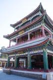 Asien China, Peking, der Sommer-Palast, klassische Architektur, Herz- und Gartentheatergebäude Lizenzfreie Stockfotografie