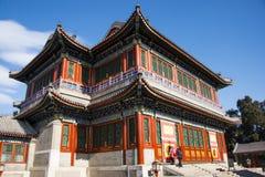 Asien China, Peking, der Sommer-Palast, klassische Architektur, Herz- und Gartentheatergebäude Stockbilder