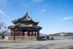 Asien China, Peking, der Sommer-Palast, quadratischer Pavillon acht Lizenzfreie Stockbilder